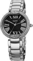 Burgi Women's BUR101SSB Crystal Dial Silver-Tone Stainless Steel Bracelet Watch