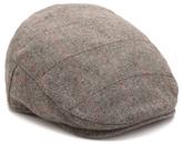 Aston Grey Herringbone Newsboy Cap