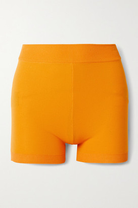 NAGNATA Yoni Technical-knit Organic Cotton-blend Shorts - Orange
