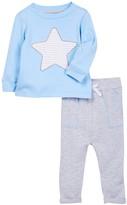 Isaac Mizrahi Long Sleeve Star Tee & Pant Set (Baby Boys 12-24M)