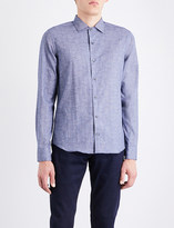 Corneliani Textured slim-fit cotton shirt