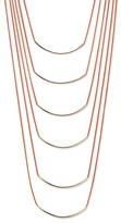 "Natasha Accessories Women's Imitation Gold Six Tier Nautical Necklace - Gold/Coral (16"")"