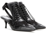 Givenchy Leather And Lace Kitten-heel Pumps
