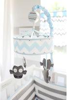 My Baby Sam Chevron Baby Crib Mobile in Aqua/Grey