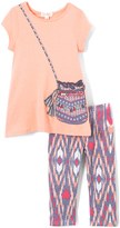 Peach Purse Tee & Abstract Leggings - Infant & Toddler