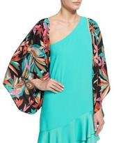 Trina Turk Exquisite Floral Silk Jacket, Black