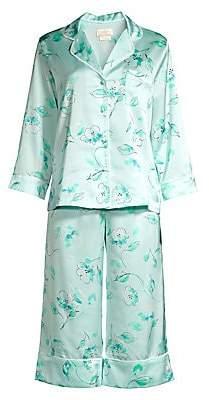 Kate Spade Women's Bridal Floral Capri Pajama Set