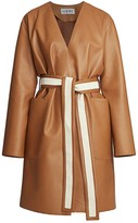 Loewe Canvas Belted Leather Coat