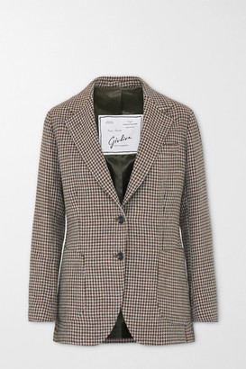 Giuliva Heritage Collection The Andrea Houndstooth Wool Blazer - Brown