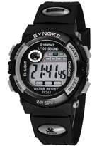 Dreamy-SYNOKE Waterproof Black Sports Kids Watches Boys and Girls for Swimming