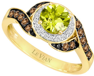 LeVian Le Vian 14K 1.20 Ct. Tw. Diamond & Peridot Ring