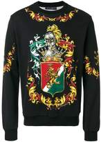 Dolce & Gabbana Coat of arms printed sweatshirt