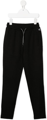 Calvin Klein Kids Embroidered Logo Drawstring Trousers