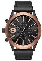 Diesel Men's DZ4445 Rasp Chrono Black Leather Watch
