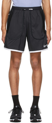 Nike Black and White Flex Stride Wild Run Shorts