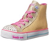 Skechers Twinkle Toes Shuffles High Top Lighted Sneaker (Little Kid/Big Kid/Toddler)