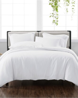 Cannon Solid White 3Pc Duvet Cover Set