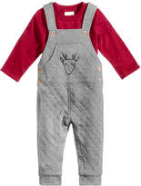 First Impressions 2-Pc. T-Shirt & Quilted Overall Set, Baby Boys, Created for Macy's