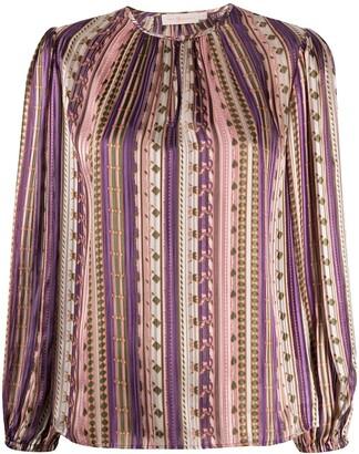 Tory Burch Striped Pattern Blouse