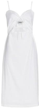 Rachel Comey Chernist Poplin Double-Tie Midi Dress