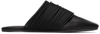 MM6 MAISON MARGIELA Black Multi Strap Slip-On Loafers