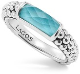 Lagos Sterling Silver Maya Escape Turquoise Doublet Stackable Ring