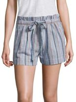 BCBGMAXAZRIA Striped Tie-Accented Shorts