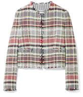 Thom Browne Frayed Cotton-blend Tweed Jacket