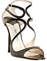 black patent leather 'Lance' sandals