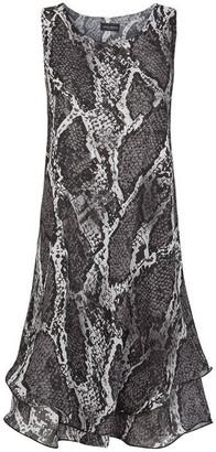 James Lakeland Python Sleeveless Wave Hem Dress