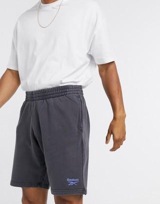 Reebok Classics Premium washed shorts in black