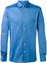 Kiton chest pocket shirt - men - Cotton - 39