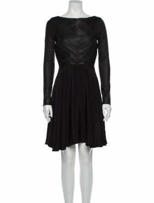 ADEAM Lamb Leather Mini Dress Black