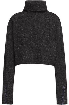 3.1 Phillip Lim Folk Cropped Boucle-knit Wool-blend Turtleneck Sweater