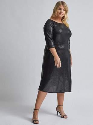 Dorothy Perkins Curve Sequin Dress - Black