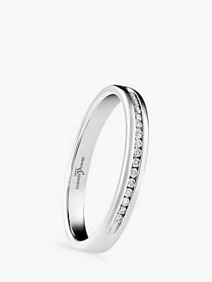 Brown & Newirth Platinum Diamond Half Eternity Ring, 0.07ct