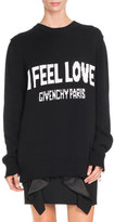 Givenchy I Feel Love Graphic Sweater, Black