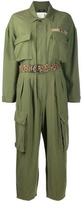 R 13 Long Sleeve Military Jumpsuit