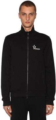 Moncler Zip Up Cotton Blend Sweatshirt Hoodie
