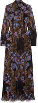 Etro Lace-paneled Floral-print Silk-chiffon Maxi And Shirt Dress Set