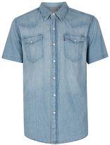 Levi's Light Blue Western Short Sleeve Denim Shirt