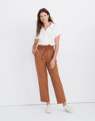 Madewell Herringbone Paperbag Pants