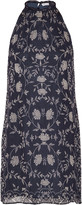 Chelsea Flower Printed georgette mini dress