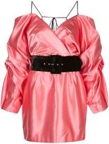 Rasario Cold-Shoulder belted dress