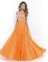 Blush Lingerie Two Piece Halter Long Gown 9935
