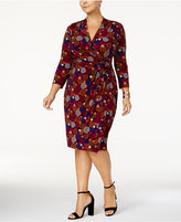 Anne Klein Plus Size Print Wrap Dress
