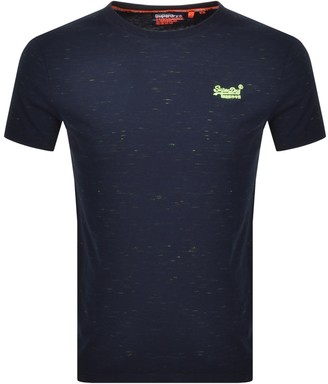 Superdry Vintage Short Sleeved T Shirt Navy