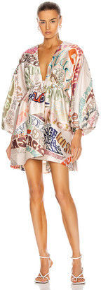 Zimmermann Ladybeetle Word Mini Dress in Word Print | FWRD