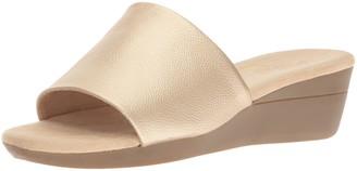 Aerosoles Women's Florida Wedge Sandal Gold 10.5 M US
