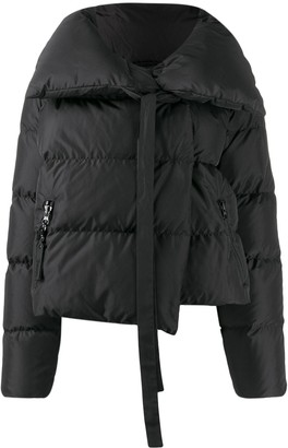 Bacon Oversized Collar Down Jacket